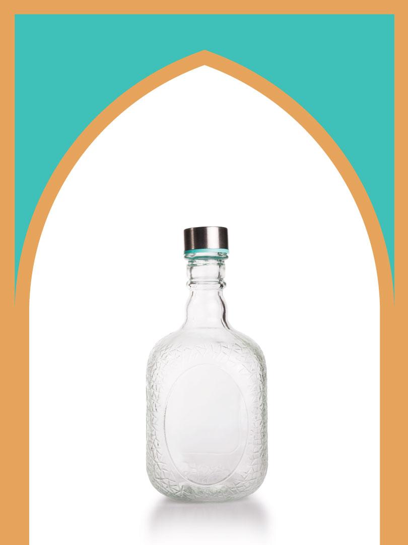 فروش بطری شیشهای ملک با درب فلزی | 1000 سیسی