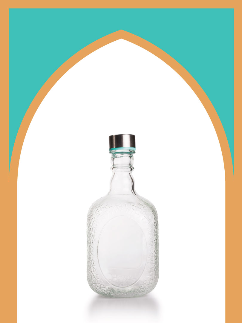 12 عدد بطری شیشه ملک
