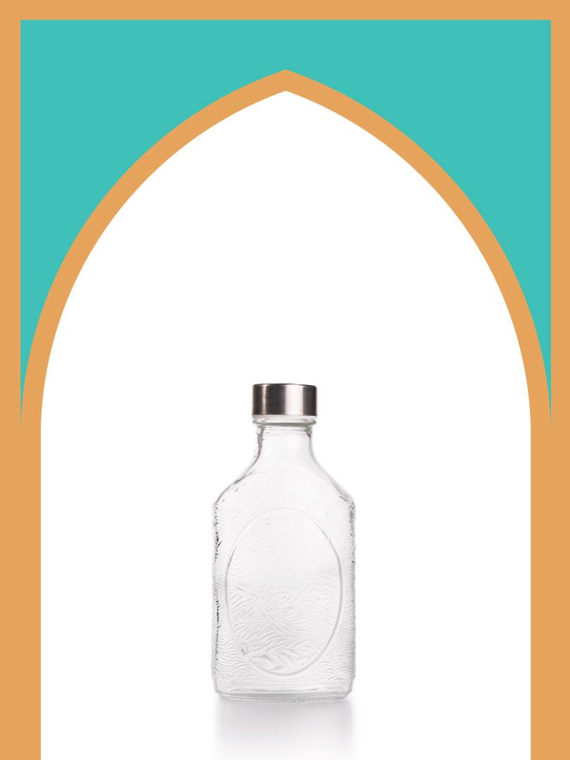 24 عدد بطری شیشه نیم گرد کتابی