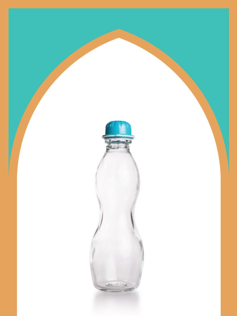 فروش بطری شیشهای دماوند با درب پلاستیکی | 750 سیسی