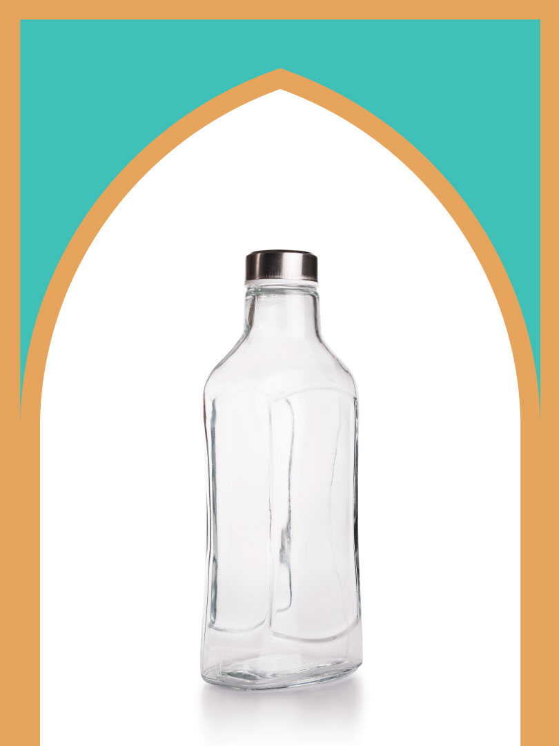 فروش بطری شیشهای قوس با درب فلزی | 1000 سیسی
