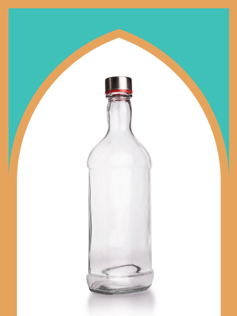 فروش بطری شیشهای فلورانس با درب فلزی | 1000سیسی