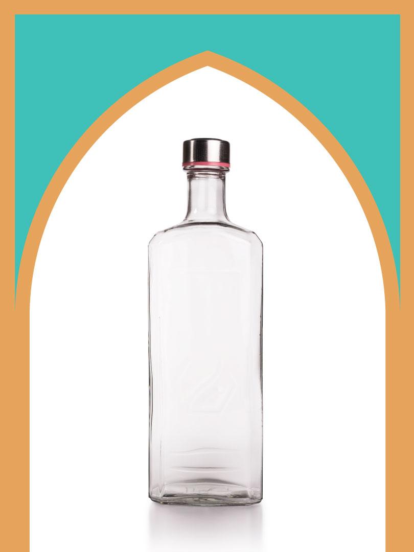 فروش بطری شیشهای پارمیدا با درب فلزی | 1000 سیسی