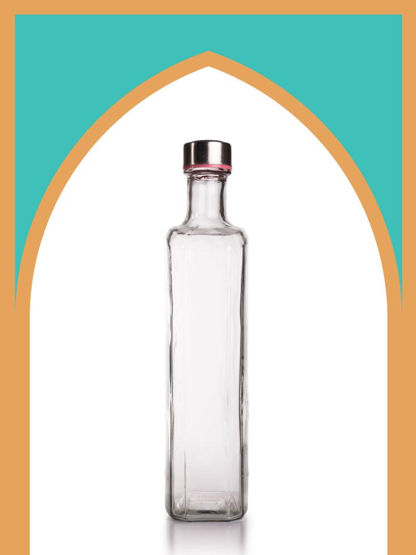 فروش بطری شیشهای پارمیدا با درب فلزی   1000 سیسی