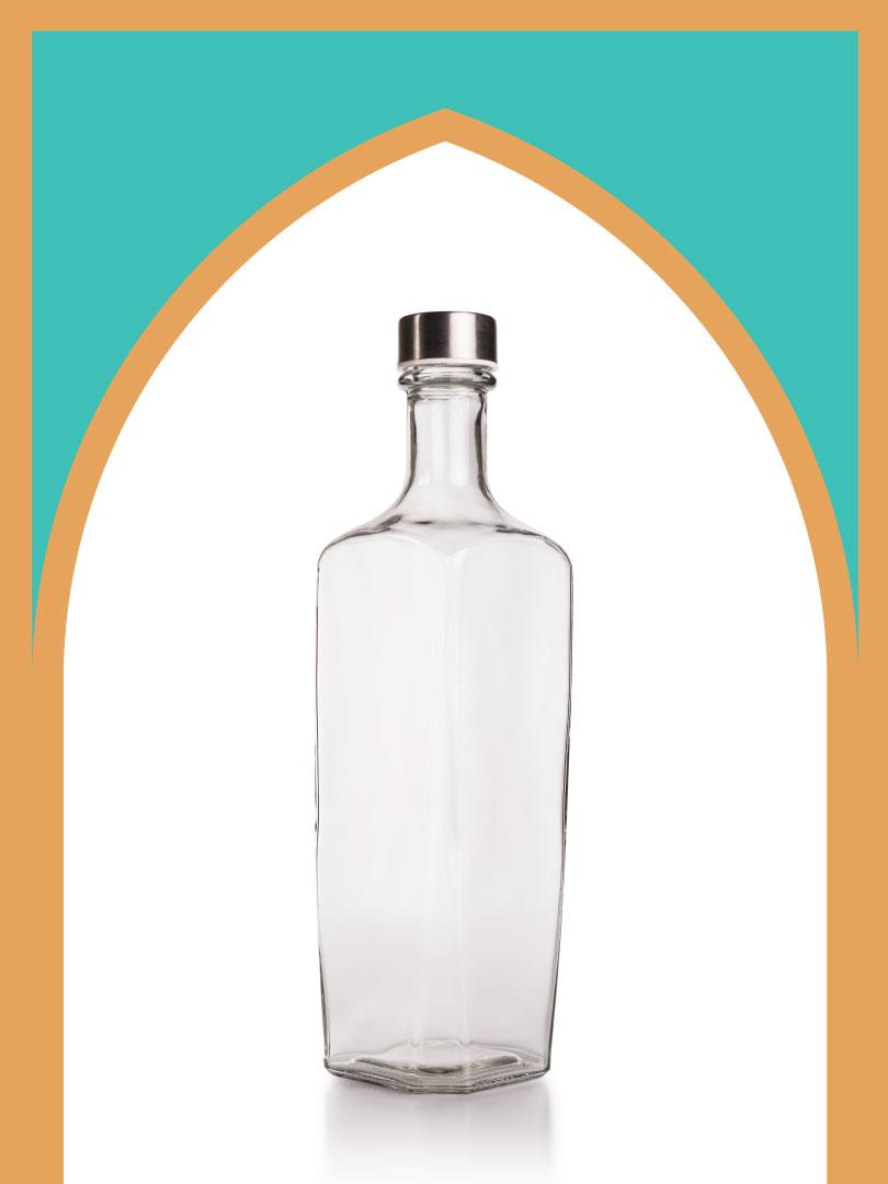 فروش بطری شیشهای برمودا با درب فلزی | 1000 سیسی