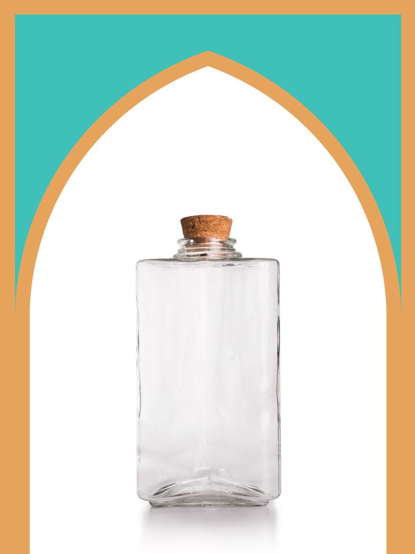 فروش بطری شیشهای آمازون برمودا با درب چوب پنبهای | 1500 سیسی