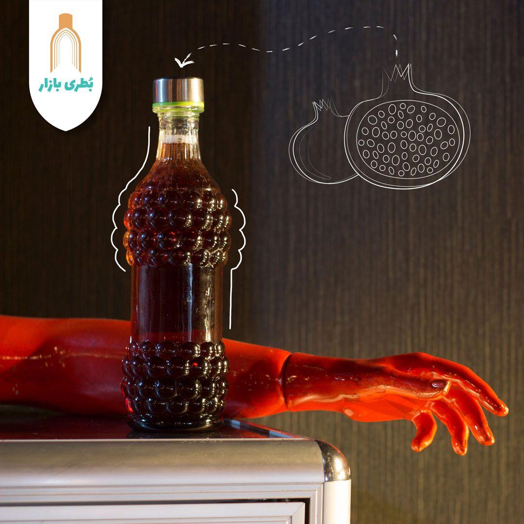 خرید بطری شیشهای عسلی با درب فلزی | 750 سیسی