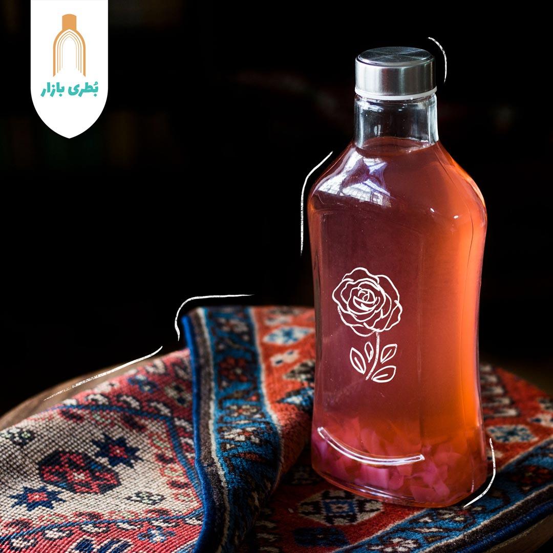 خرید بطری شیشهای قوس با درب فلزی | 1000 سیسی