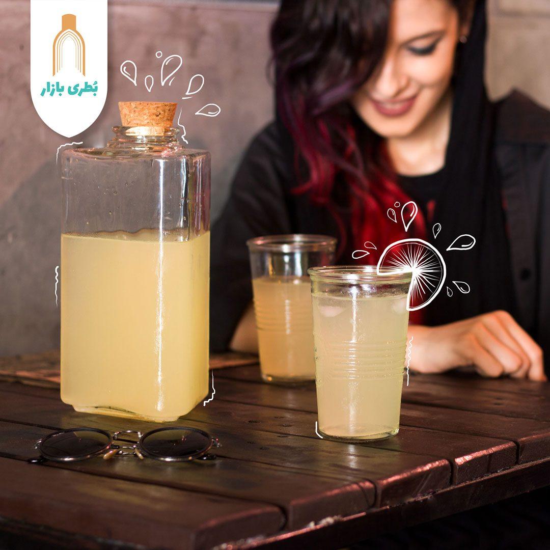 خرید بطری شیشهای آمازون برمودا با درب چوب پنبهای | 1500 سیسی