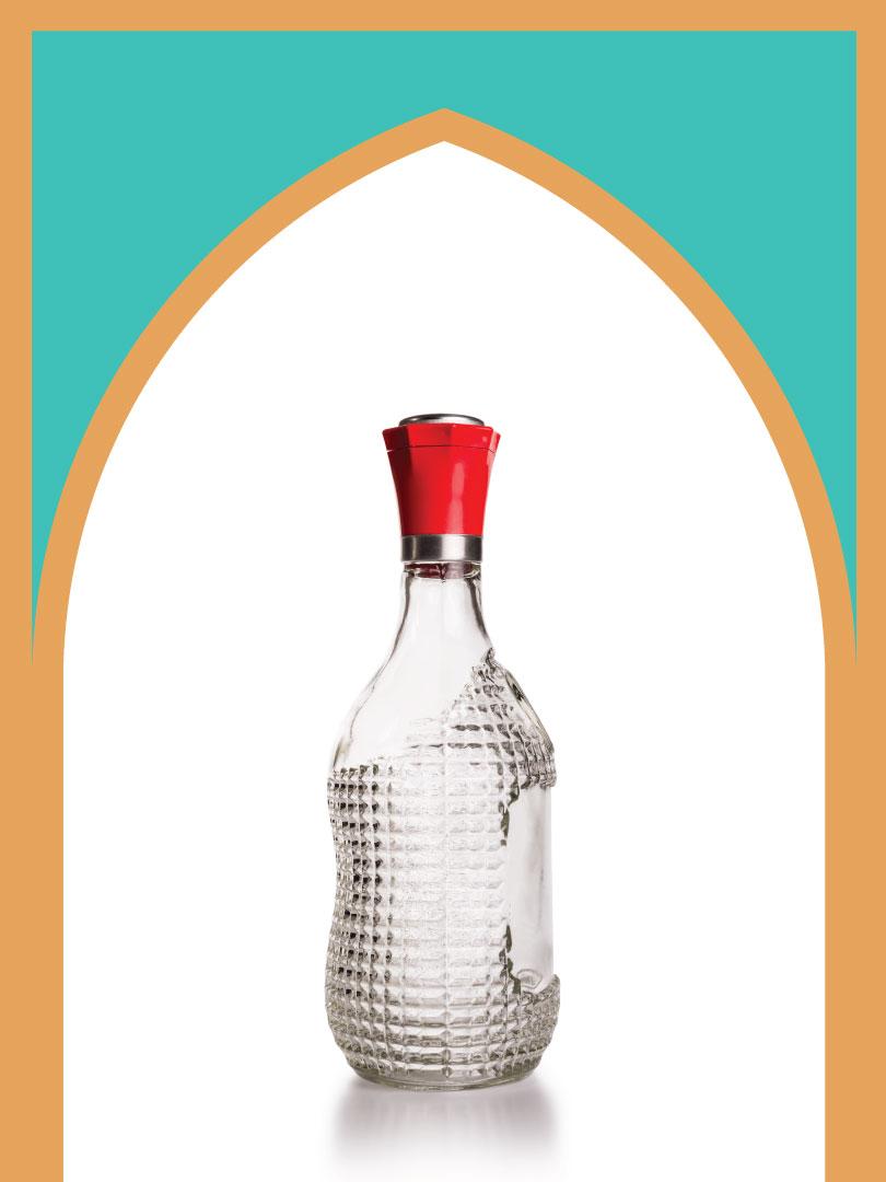 فروش بطری شیشهای کارن با درب فلزی | 850 سیسی