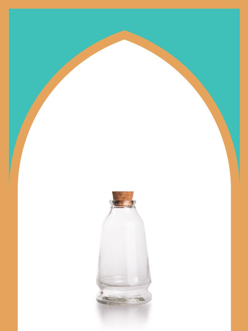 فروش بطری شیشهای آمازون مخروطی با درب چوب پنبهای | 300 سیسی