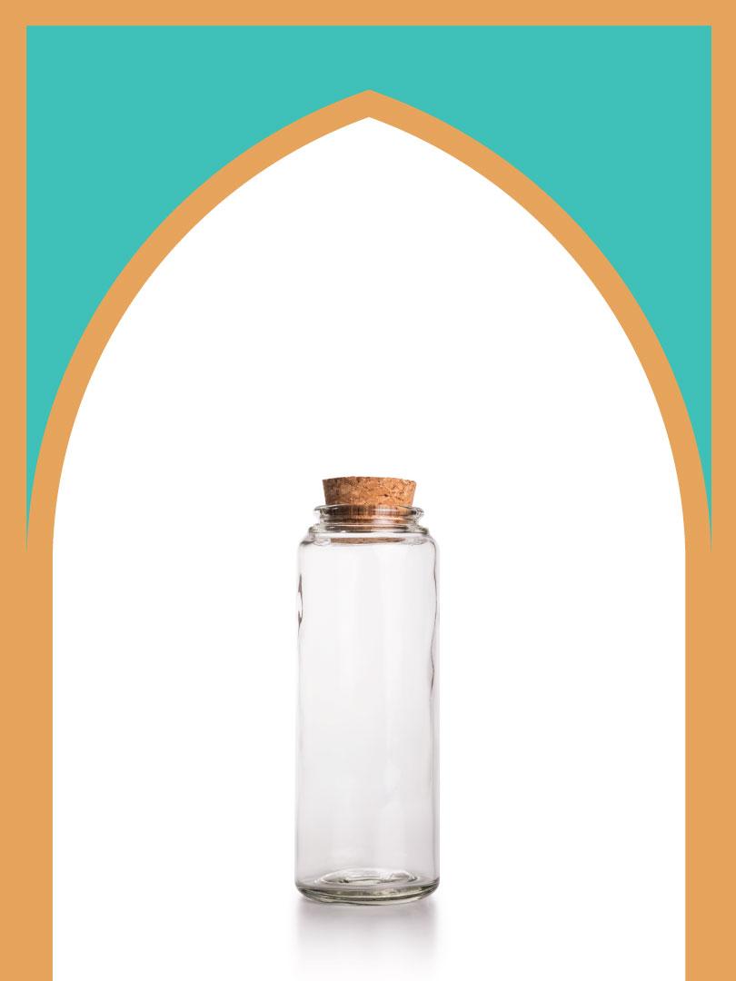فروش بطری شیشهای آلپ متوسط با درب چوب پنبهای | 400 سیسی