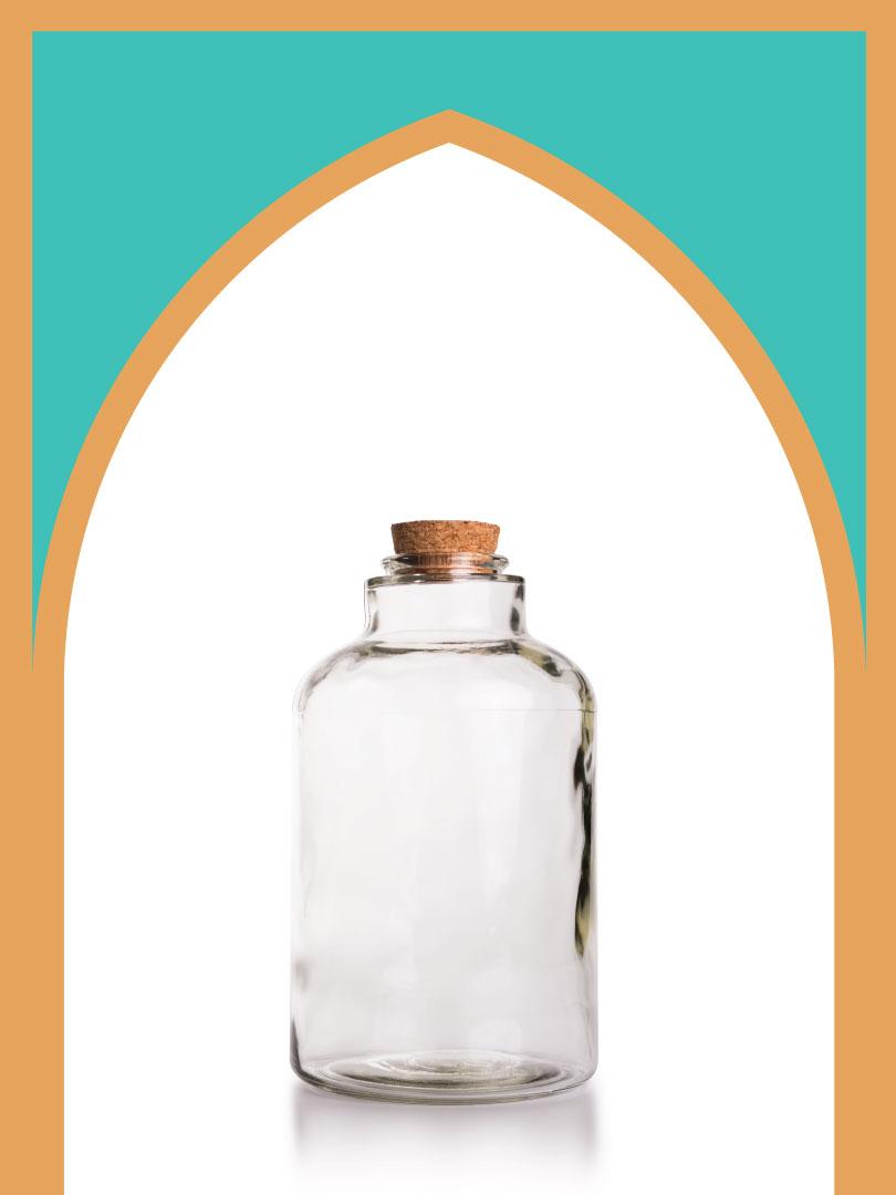 فروش بطری شیشهای آمازون بزرگ با درب چوب پنبهای | 1500 سیسی