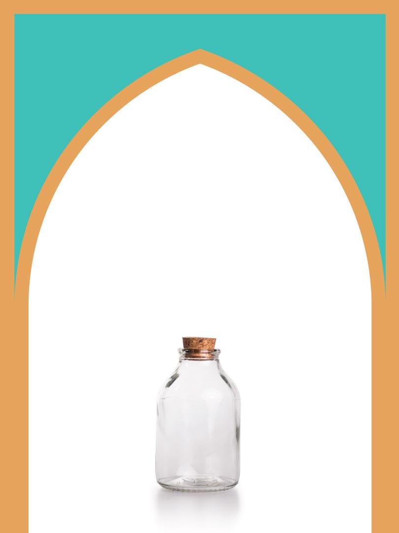 فروش بطری شیشهای آمازون مینی با درب چوب پنبهای | 300 سیسی