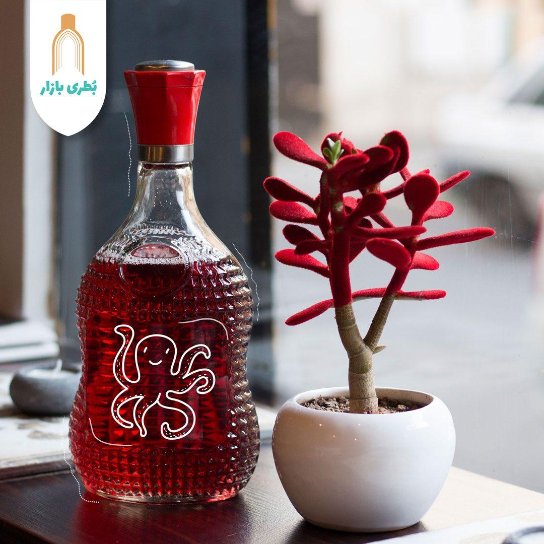 خرید بطری شیشهای کارن با درب فلزی | 850 سیسی