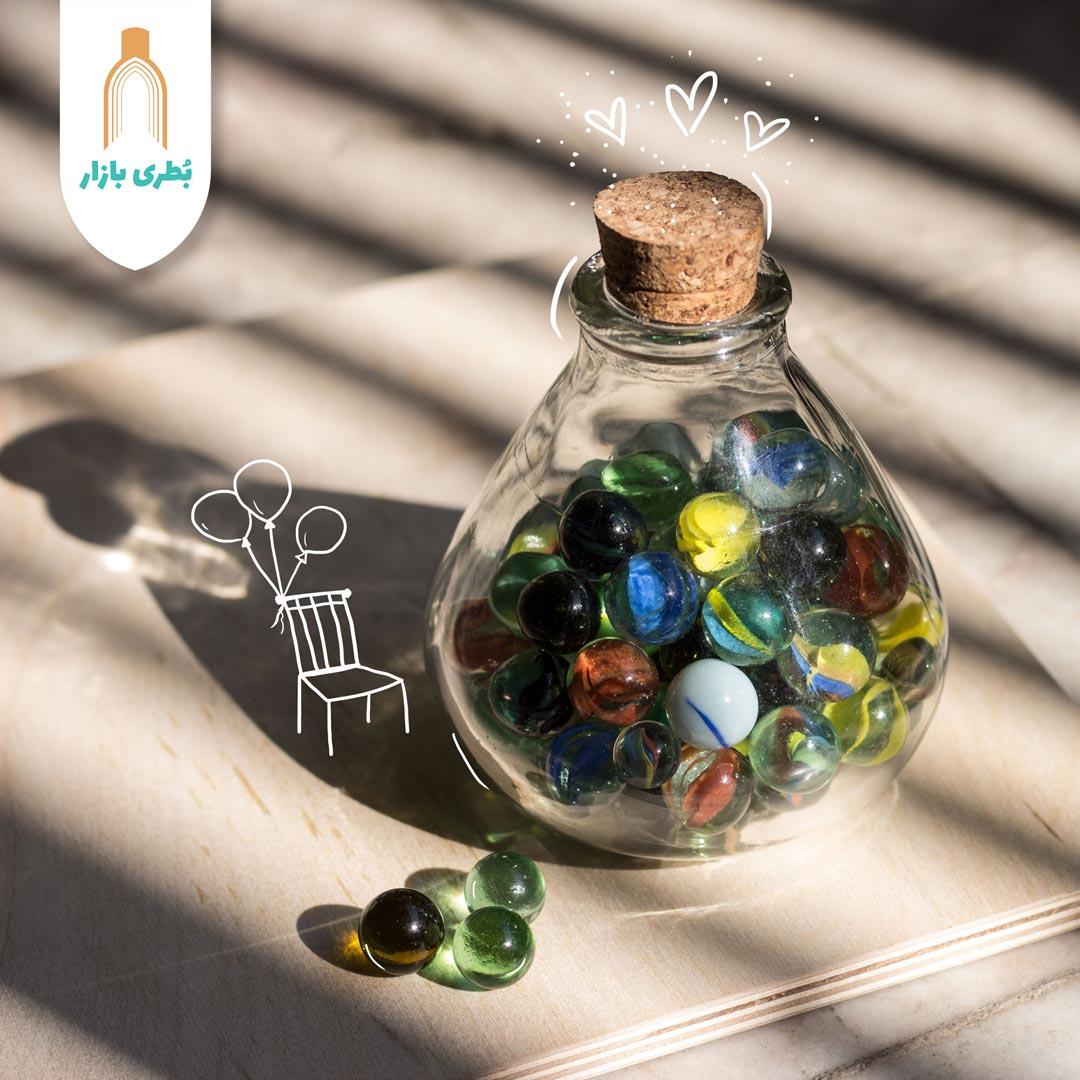 خرید بطری شیشهای آمازون کلوش با درب چوب پنبهای   300 سیسی