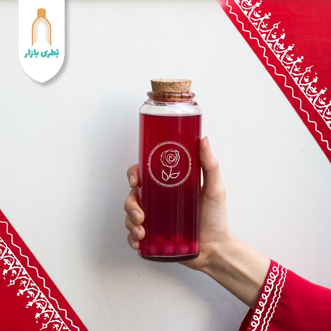 خرید بطری شیشهای آلپ متوسط با درب چوب پنبهای | 400 سیسی