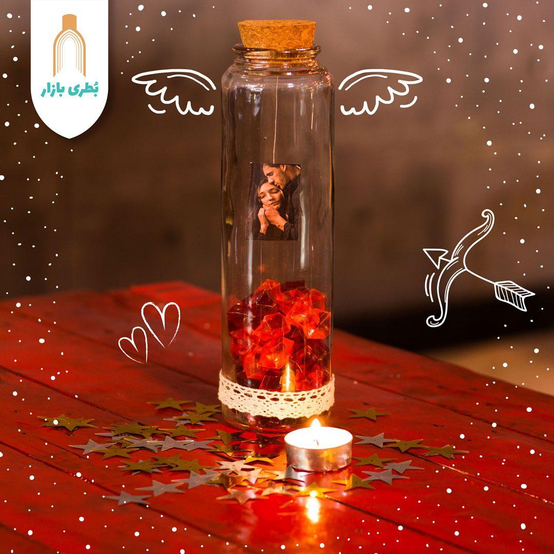 خرید بطری شیشهای آلپ بلند با درب چوب پنبهای   600 سیسی