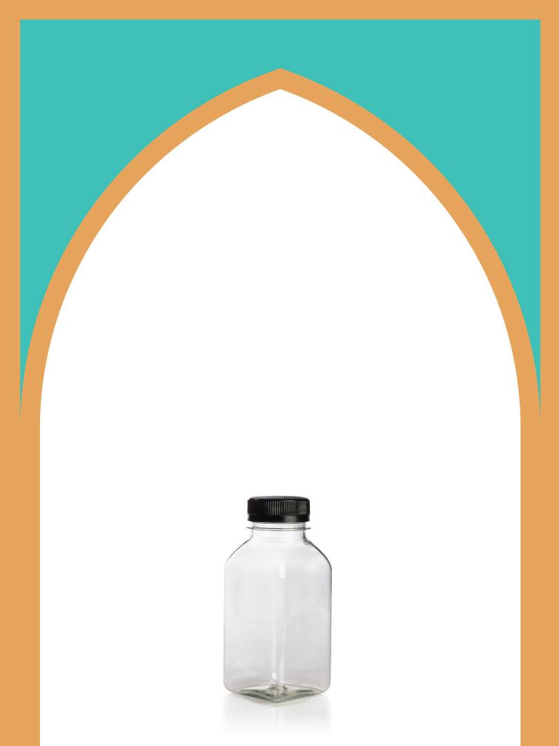 فروش بطری پلاستیکی پت آبمیوه خیلی کوتاه با درب پلاستیکی | 250 سیسی