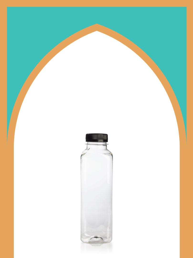 فروش بطری پلاستیکی پت آبمیوه متوسط با درب پلاستیکی | 500 سیسی