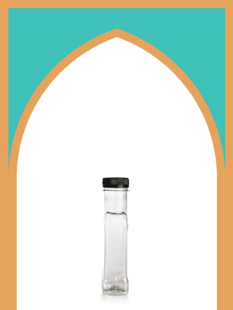 فروش بطری پلاستیکی پت کتابی جنتلمن با درب پلاستیکی | 400 سیسی