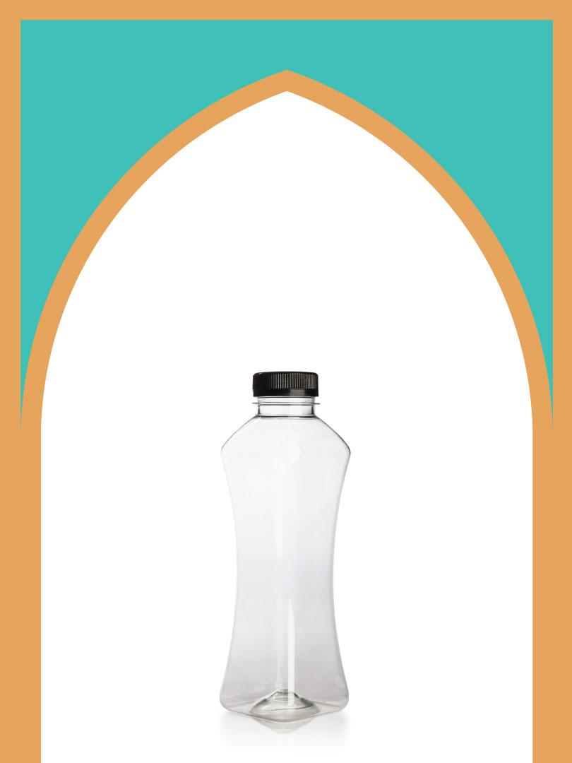 فروش بطری پلاستیکی پت مانکن بزرگ با درب پلاستیکی   500 سیسی