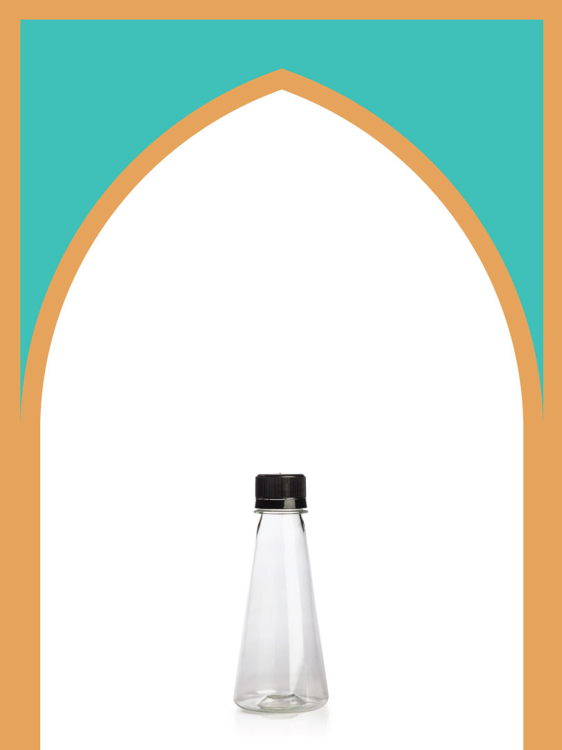 فروش بطری پلاستیکی پت مخروطی با درب پلاستیکی | 150 سیسی