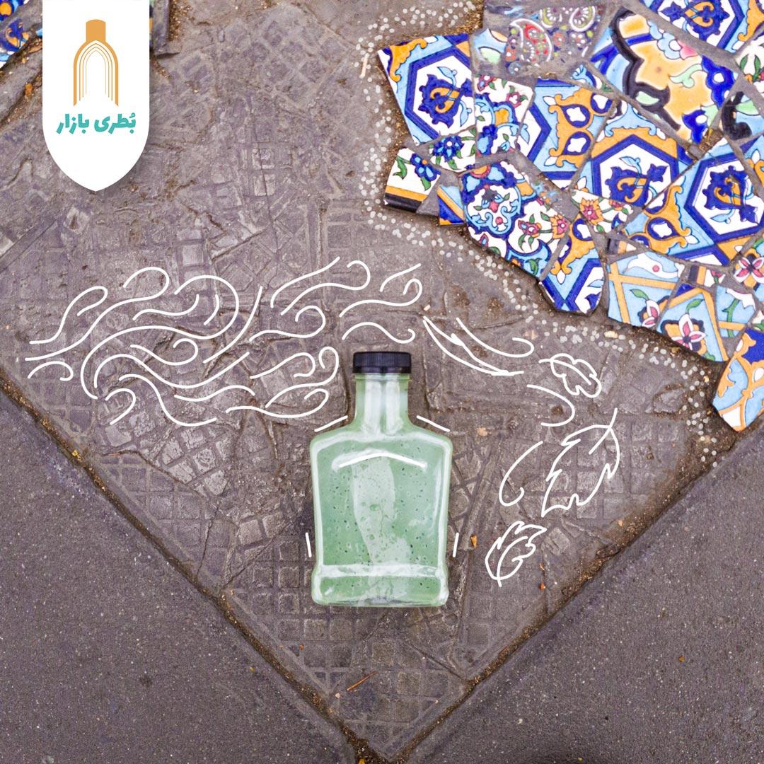 خرید بطری پلاستیکی پت کتابی جنتلمن با درب پلاستیکی | 400 سیسی