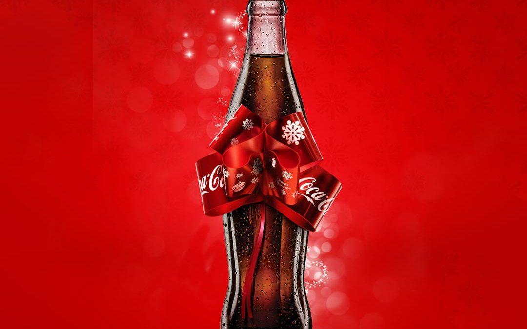 لیبل خلاقانه بطری کوکاکولا برای کریسمس
