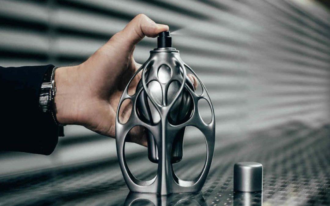 طراحی بطری عطر برند F1 و پرینت سهبعدی فلز