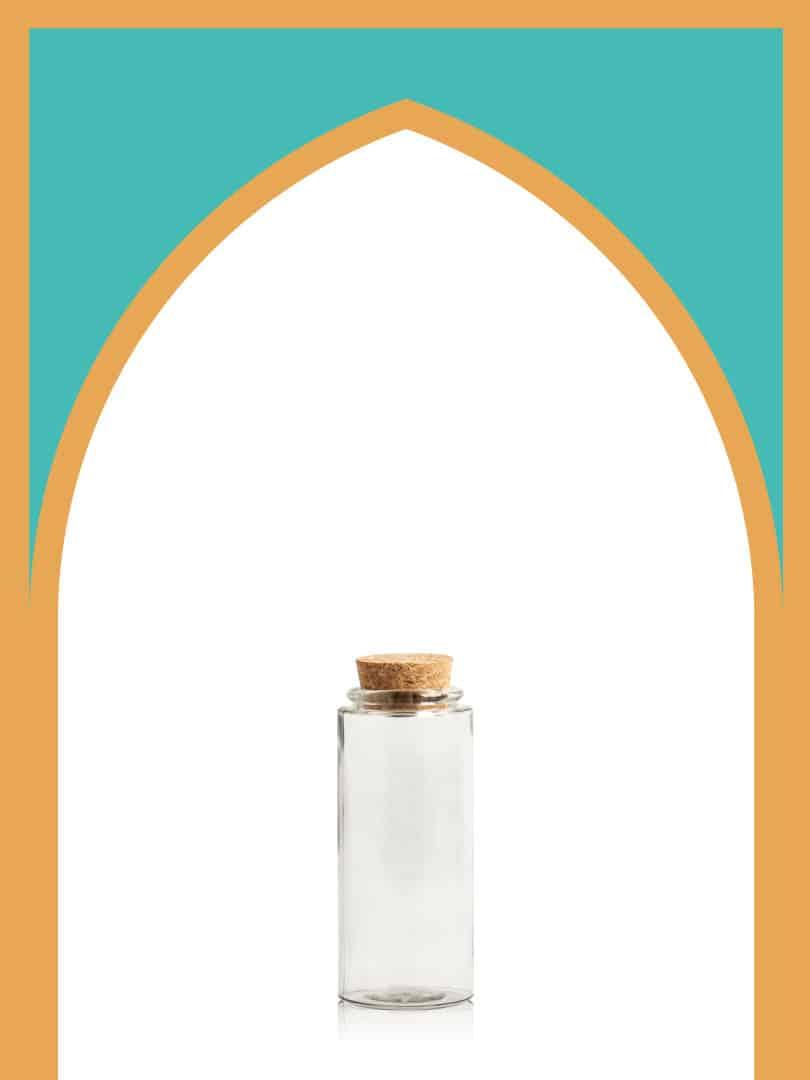 فروش بطری شیشهای آلپ کوتاه با درب چوب پنبهای | 300 سیسی