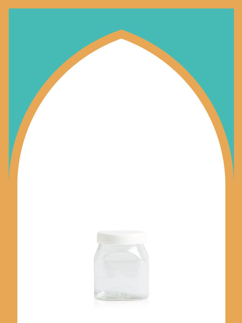 فروش جار پلاستیکی پت خوشمزه با درب پلاستیکی | 350 سیسی