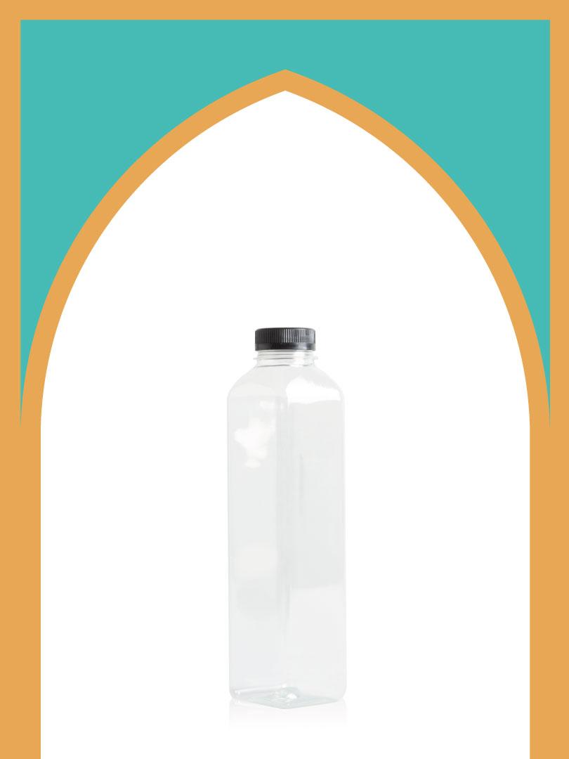 فروش بطری پلاستیکی پت کانسپت سایز 1 با درب پلاستیکی | یک لیتری