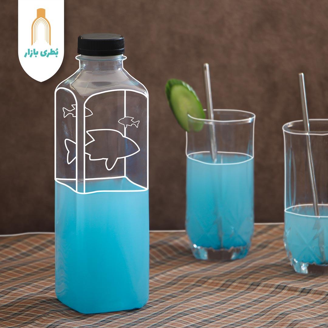 خرید بطری پلاستیکی پت کانسپت سایز 1 با درب پلاستیکی | یک لیتری