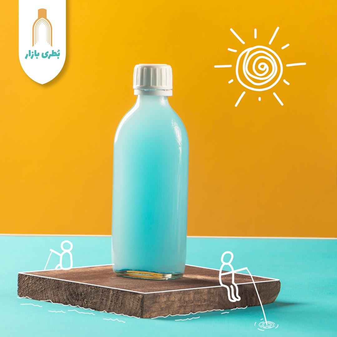 خرید بطری شیشهای باروک با درب پلاستیکی | 150 سیسی
