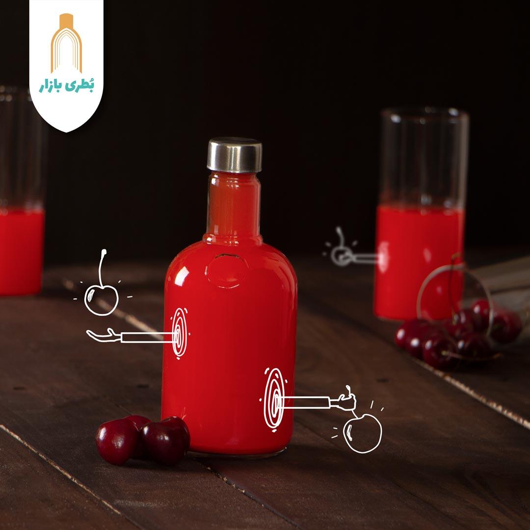 خرید بطری شیشهای نگین با درب فلزی | 400 سیسی