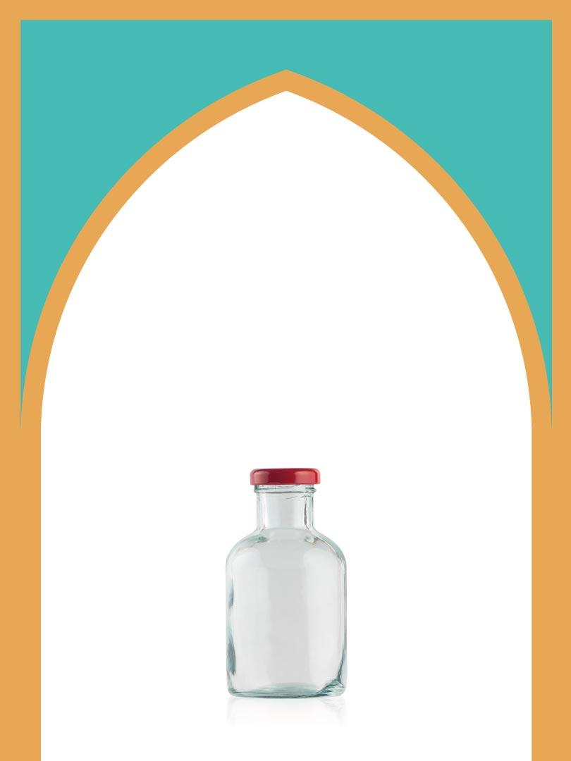فروش بطری شیشهای گوتیک کوچک با درب فلزی | 300 سیسی