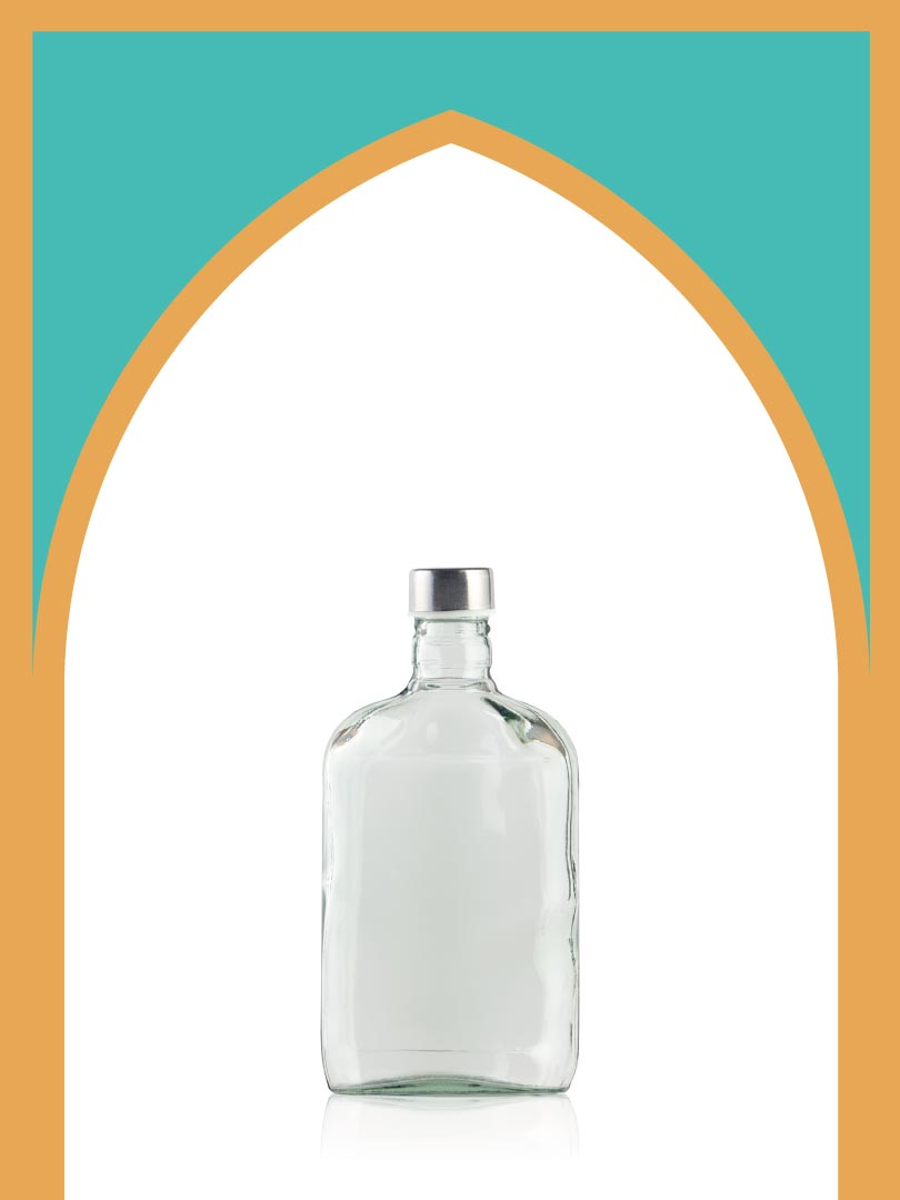 فروش بطری شیشهای کتابی پیچک با درب فلزی | 350 سیسی