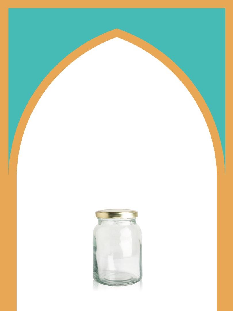فروش جار شیشهای پریا بزرگ با درب فلزی | 500 سیسی