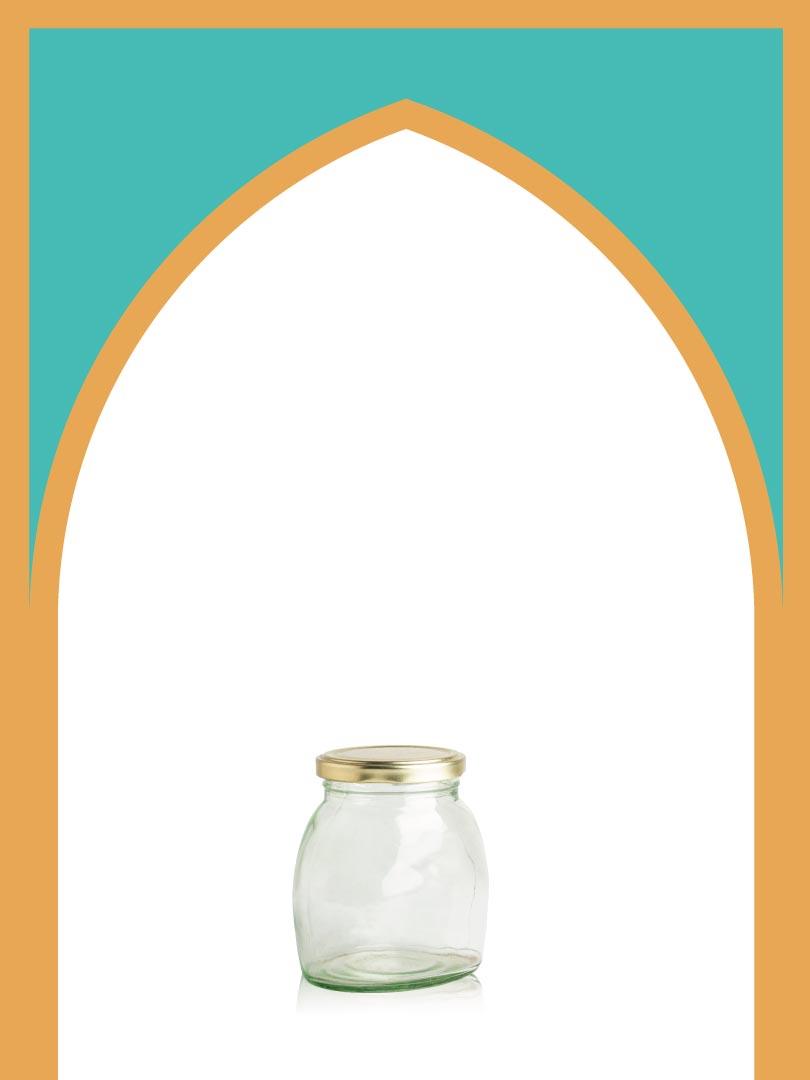 فروش جار شیشهای پریا کوچک با درب فلزی | 400 سیسی