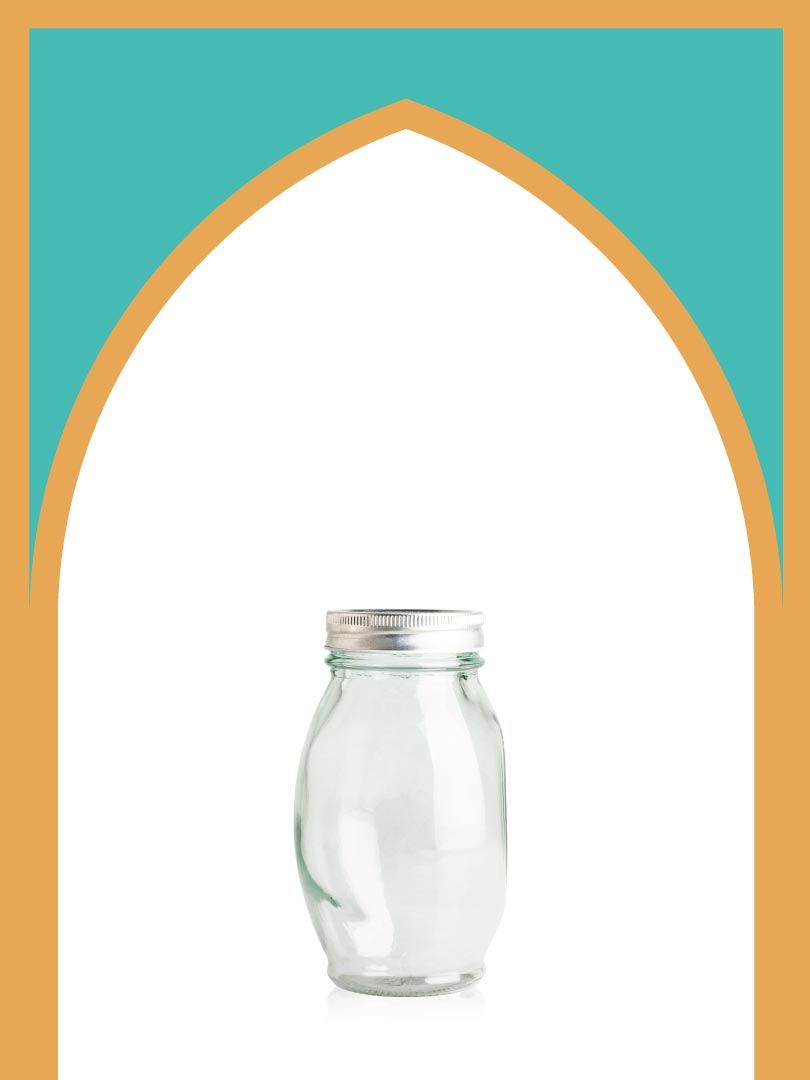 فروش جار شیشهای کیمیا بزرگ با درب فلزی | 750 سیسی