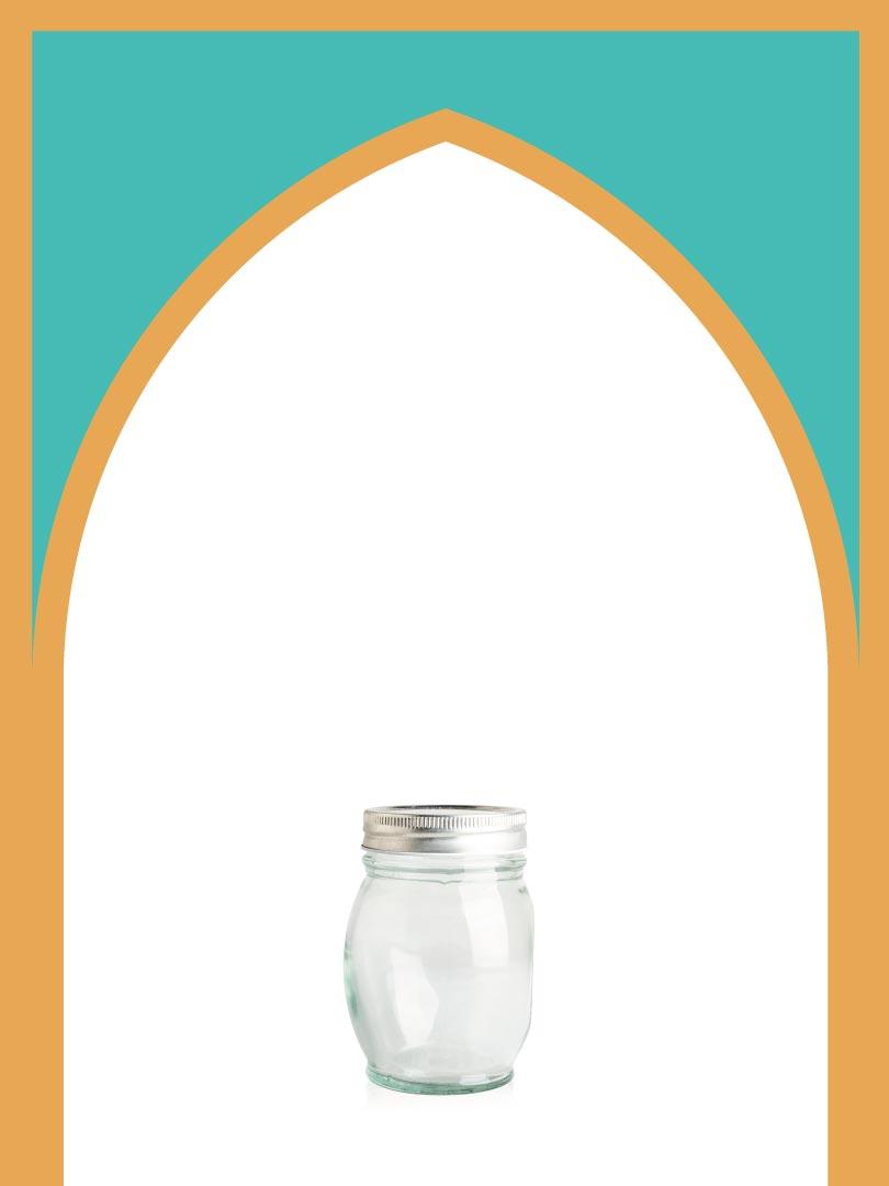 فروش جار شیشهای کیمیا کوچک با درب فلزی | 350 سیسی