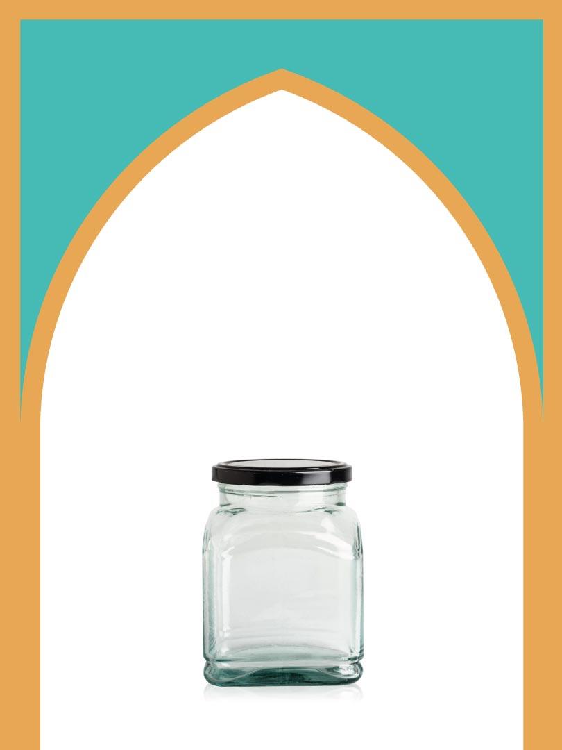 فروش جار شیشهای ماتیسا بزرگ با درب فلزی | 750 سیسی
