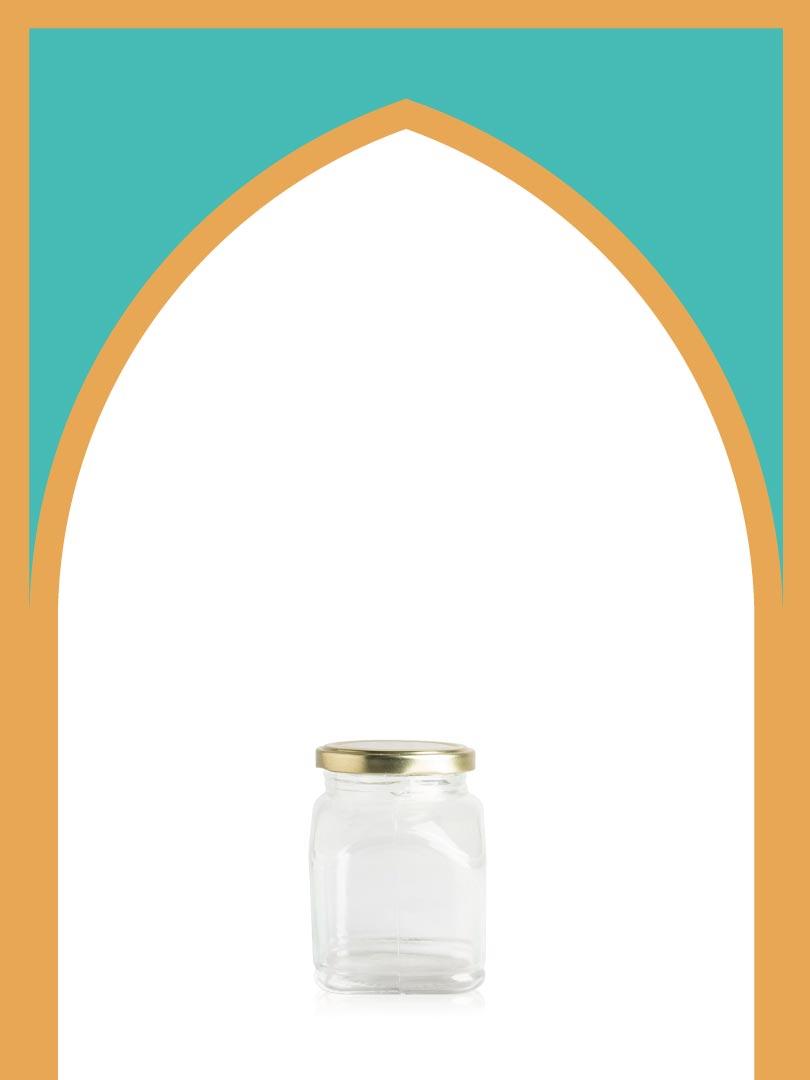 فروش جار شیشهای ماتیسا کوچک با درب فلزی | 350 سیسی
