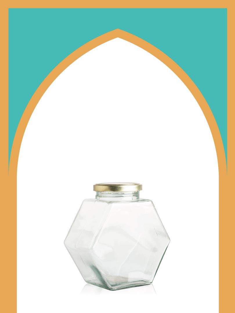 فروش جار شیشهای کندو بزرگ با درب فلزی | 750 سیسی
