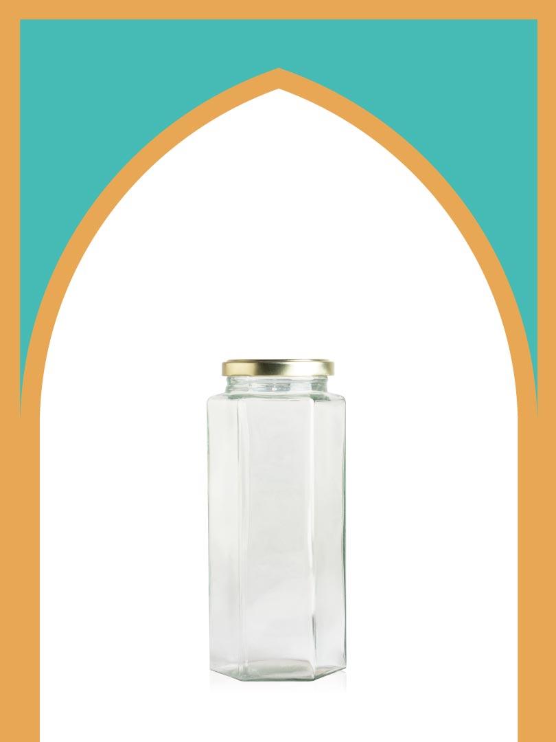فروش جار شیشهای بیزانس بزرگ با درب فلزی | 750 سیسی