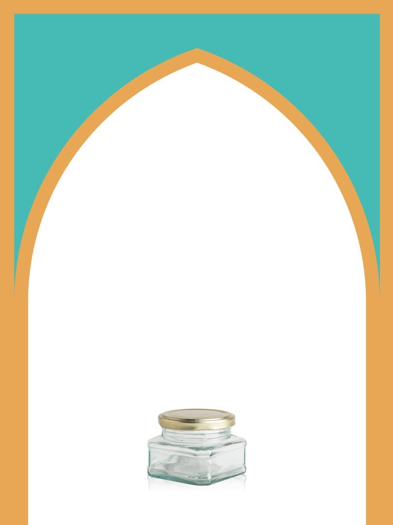 فروش جار شیشهای خشتی کوچک با درب فلزی | 150 سیسی