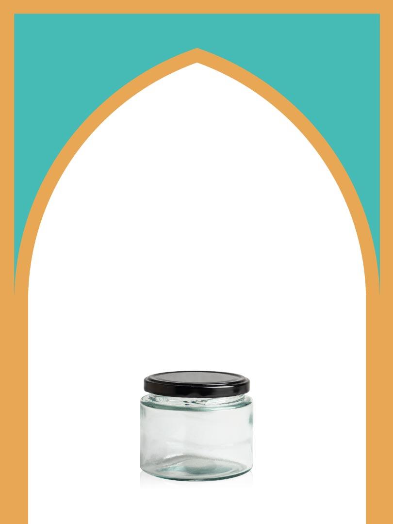 فروش جار شیشهای چلچله بزرگ با درب فلزی | 350 سیسی