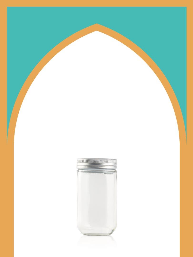 فروش جار شیشهای چکاوک متوسط با درب فلزی