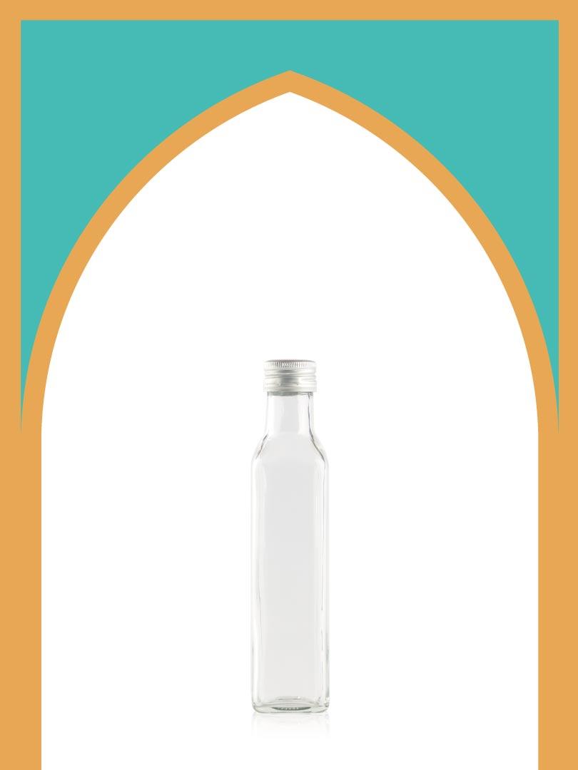 فروش بطری شیشهای تندیس کوچک با درب فلزی | 250 سیسی